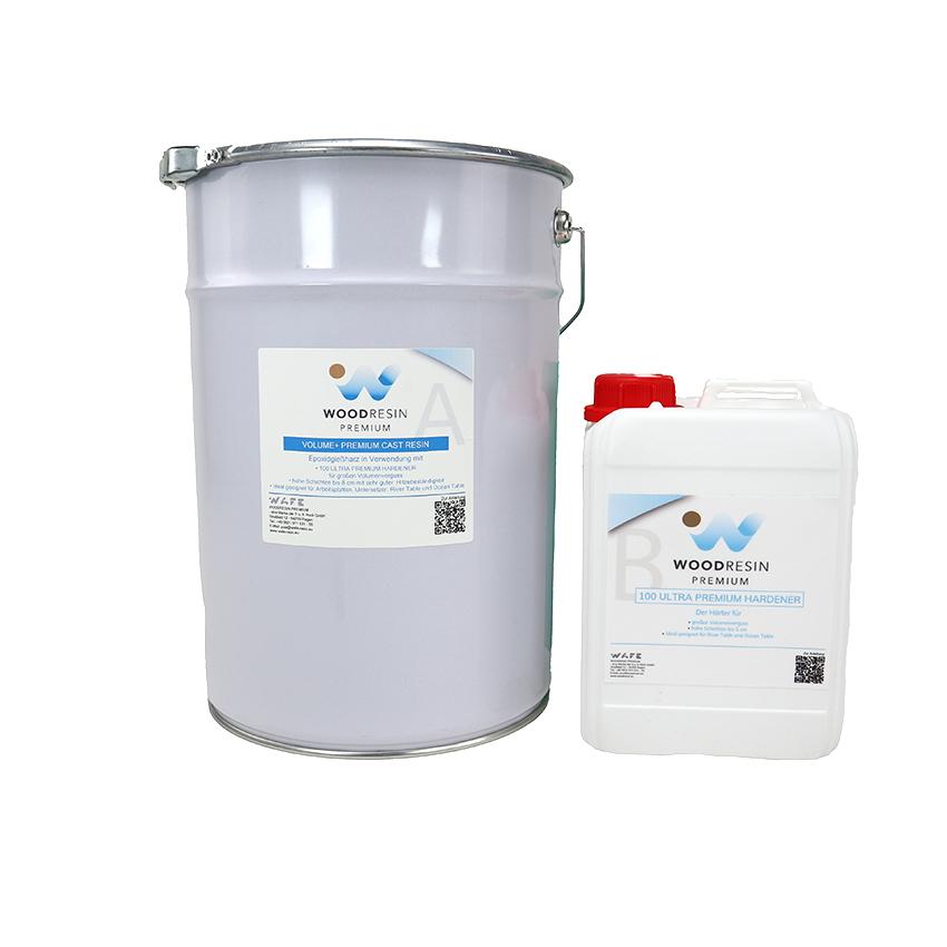 WOODRESIN VOLUME + PREMIUM CAST RESIN SYSTEM   8,625 kg (7,5 kg resin + 1,125 kg hardener)