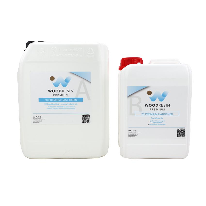 WOODRESIN 70 PREMIUM CAST RESIN SYSTEM 0,65 kg (500 g resin + 150 g hardener)