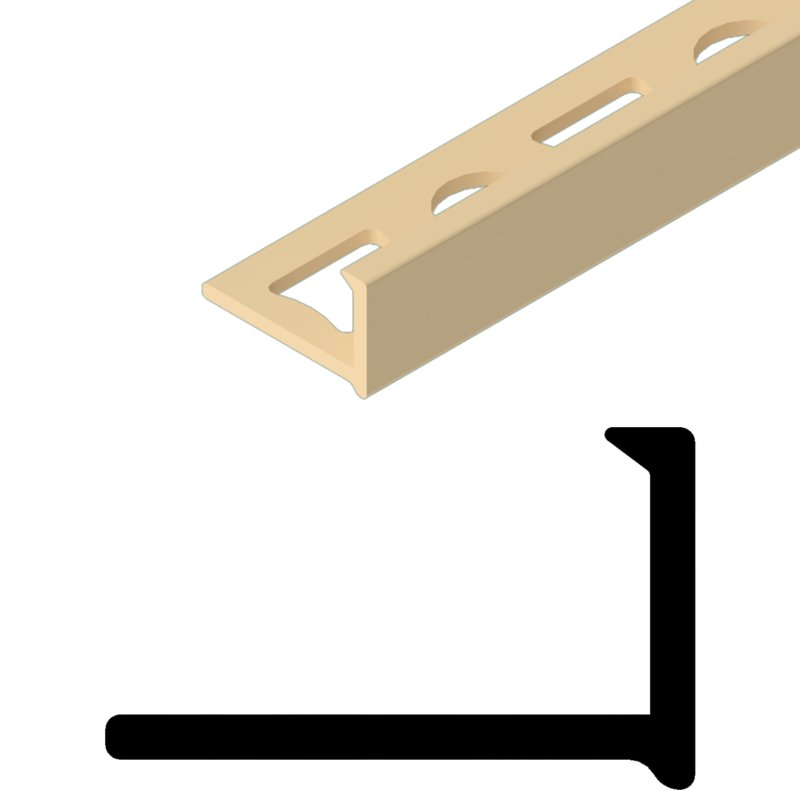 Winkelabschluss  L-Profil PVC farbig durchgefärbt